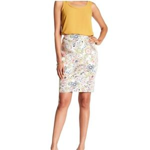 Philosophy Floral Parsley Pencil Stretch Skirt 4